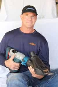 jack kind holding dustram